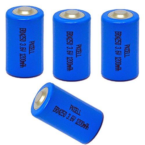ER14250 LS14250 er3s 3,6 V 1/2AA 1200 mAh Li-SOCl2 Batterien (4 Stück)