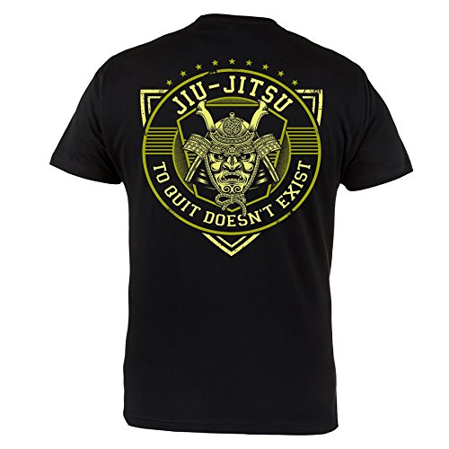 Rule Out Camiseta Prenda De Lucha Brasileño jiu-jitsu. entrenamiento. Gimnasio ropa deportiva. MMA Prenda De Lucha Marcial Artes Informal - Negro, X-Large