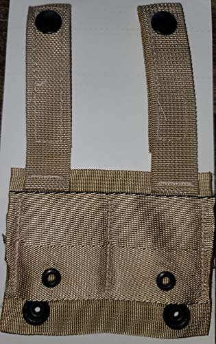 Specialty Defense Systems G.I. Military MOLLE II Alice Clip Adaptor ~TAN~ Set of (2) NSN:8465-01-491-7443