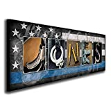 Law Enforcement Officer - Personalized LEO Police Name Art (9.5'x26' Block Mount)