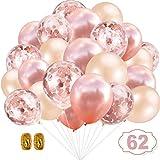YIKEF Globos de Confeti de Oro Rosa Globo de Fiesta 30.5 CM para Boda, cumpleaños, Baby...