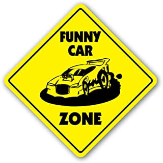 [SignJoker] Funny CAR Zone Sign xing Gift Novelty drag stip Race Top Fuel Tire Wall plaque Decoration