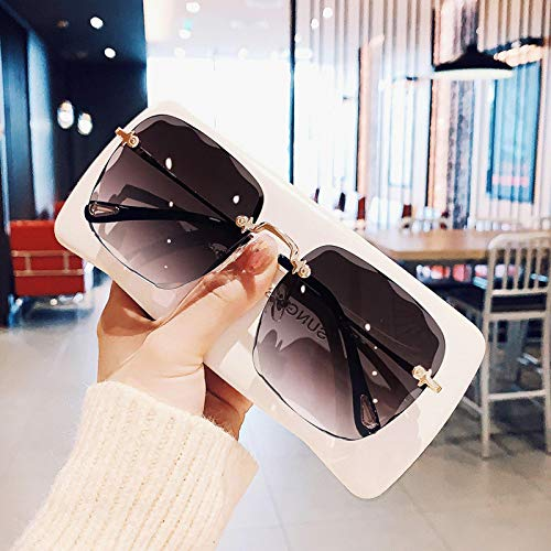 Gafas de Sol Gafas De Sol Sin Montura De Moda para Mujer, Gafas De Sol Cuadradas De Gran Tamaño Vintage para Hombre, Sombrillas para Mujer De Lujo 1