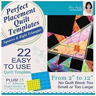 DIME- PERFECT PLACEMENT QUILT TEMPLATES- SQUARES AND RIGHT TRIANGLES - PPQ0010