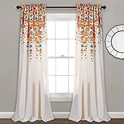 Lush Decor Weeping Flowers Curtains