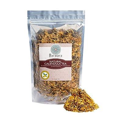 Calendula Herbal All Natural Loose Flower Tea No Caffeine 4 Ounce by Marmara