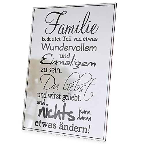 Loberon Dekoboard Family Love, Eisen, H/B ca. 39,5/30,5 cm, weiß