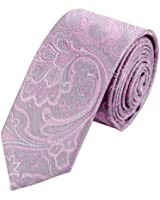 Epoint PS1152 Great Fabric Pink Fine Slim Necktie Matching Present Box Set Patterned Tie Fitness Gift