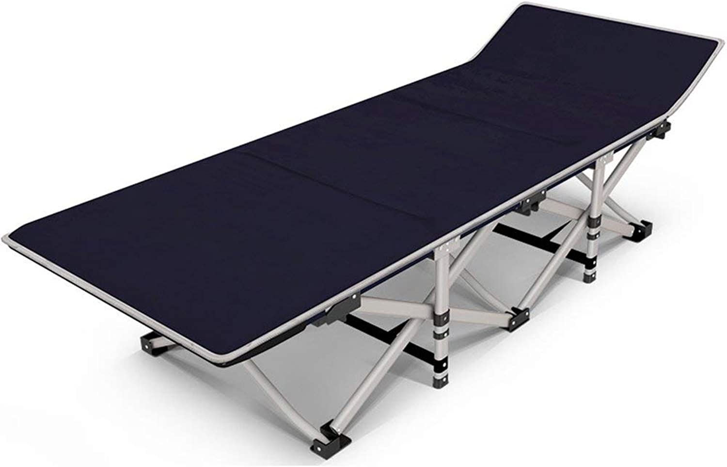 Sun Lounger Multifunction Folding Bed Simple Teslin Alloy Folding Bed Office Siesta Bed Hospital Nursing Bed Portable Camp Bed (color   1004)