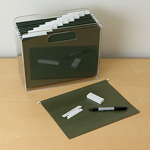 Smead Erasable Hanging File Folder Tabs, 1/3-Cut, White, 25 per Pack (64627) Photo #4