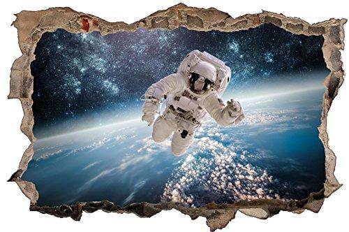 Astronaut Weltall Sterne Wandtattoo Wandsticker Wandaufkleber D1066 Größe 70 cm x 110 cm