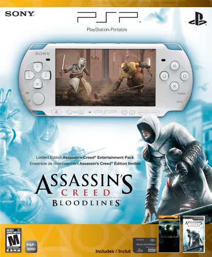 games for psps PSP 3000 Limited Edition Assassin's Creed: Bloodlines Entertainment Pack- White