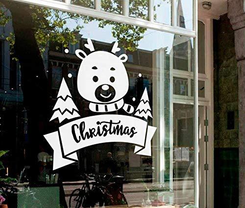 Sanzangtang Stickers rendier grappig bord feestelijke muursticker van vinyl wanddecoratie huis raamdecoratie koopwinkel gelukkig jaar