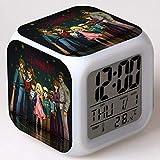 BZL POP Reloj Despertador Digital Stranger Things Season, Luces de Colores Reloj Despertador de Humor Reloj Cuadrado Disponible Carga USB Adecuada para niños-5