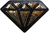 Diamond Sequin Shine Shiny Patch Sew Iron on Embroidered Applique Craft Handmade Baby Kid Girl Women Sexy Hip Hop Cloths DIY Costume Cloth (gold)