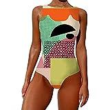 MMYY Badeanzug mit Graffiti-Abdruck, einteiliger Badeanzug 2021, Badeanzug für Damen im Sommer...