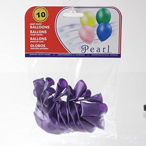 Feerie Christmas 10 Ballons gonflables Nacrés - Violet