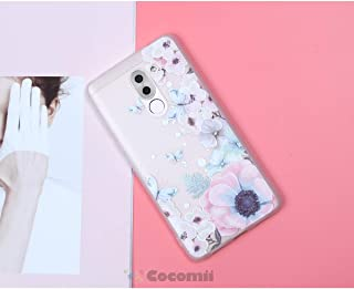 Cocomii Cute Armor Huawei Honor 6X/Mate 9 Lite/GR5 2017 Case NEW [Feels So Good In Hand] Pretty 3D Pattern Relief Silicone Shockproof Bumper [Slim] Cover for Huawei Honor 6X (C.Watercolor Butterflies)