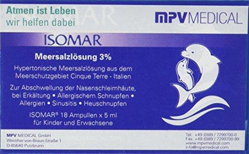 ISOMAR 00001 Meersalzlösung 3% für Inhalation (Packung mit Ampulle), 18x5 ml