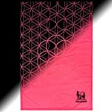 FORCEFIELD Force Field Cloak Glow in The Dark Blanket - Choice Bedtime Solution That Turns Fear of The Dark Into Fun in The Dark - Throws That Glows for Hours (Pink Flower Defender)