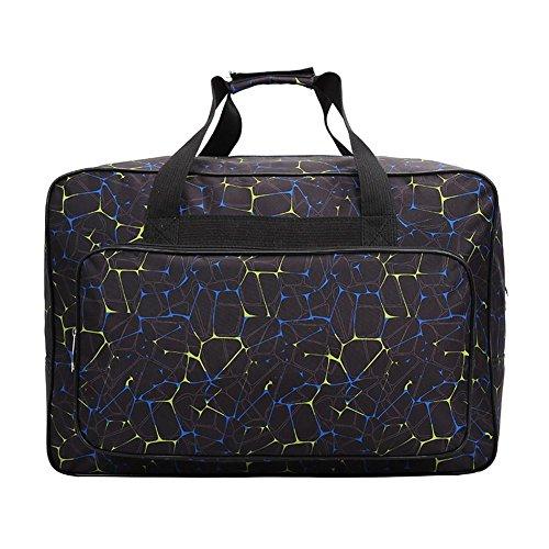 Bolsa para máquina de coser, bolsa de transporte universal de nailon, funda de almacenamiento acolchada universal con bolsillos y asas 18.1x12.2x9.4in negro