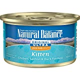 Natural Balance Kitten Formula Canned Wet Cat Food, Original Ultra Whole Body Health Chicken, Salmon...