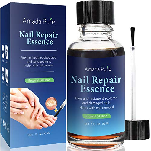Amada Pure Toenail and Nail Care Solution -Toenail & Fingernail Repair, Restores Discolored & Damaged Nails (30ml)