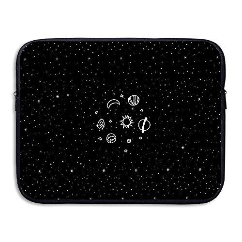 D-MUSE Fashion Cute Planet Printed Computer Storage Bag Portable Waterproof Neoprene Laptop Sleeve Bag Zipper Pocket Cover 15 Inch For MacBook Pro, MacBook Air, Notebook