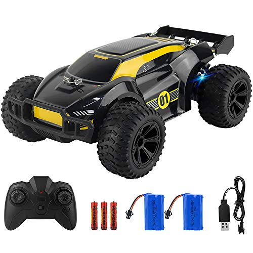 ADDSMILE Remote Control Car 2.4GHz Electric RC Racing Cars with 2 Rechargeable Battery and Lights 1:22 Toy Car Gift with 100mins Running for 3 4 5 6 7 8 Year Old Boys Girls Kids