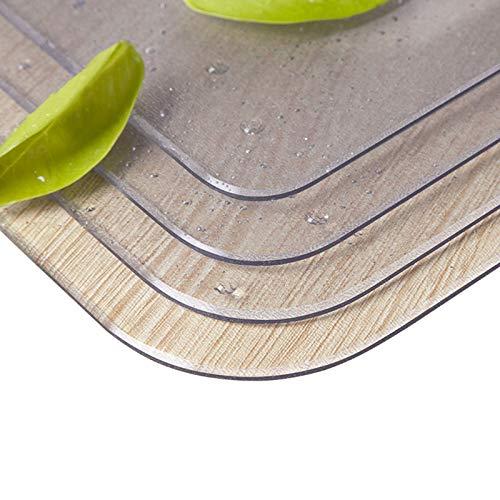 Mantel De Cocina Transparente Protector De Mesa De PVC Cubierta del LáMina Protectora De Mesa Comedor Muebles De Madera Protective LáMina Transparente Redondos Filete+Hipotenusa (80 * 130CM)