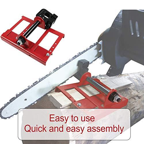 SQG Chainsaw Mill, Mini Lumber Cutting Maker Guide Wood Timber Chainsaw Cut Sawmill GuideBar