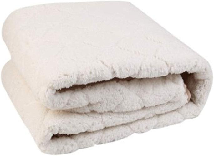 Luxe couverture chauffante basse pression couverture électrique maison mode Design Premium velours luxe couverture douce et confortable,Cashmereblanc,180cm150cm