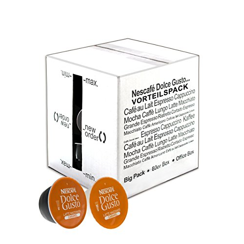 80 x Nescafé Dolce Gusto Caramel Latte Macchiato, Karamell, Kaffee, Kaffeekapsel, Großpackung, Vorteilspackung, 80 Kapseln (40 Portionen)