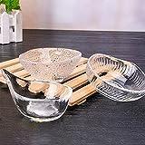 Mini cuencos de vidrio conjunto de 3, para salsas de inmersión, cuencos de salsa, cocina para el hog...