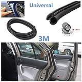 Guarnizione in gomma nera universale per portiera auto, 3m, guarnizione isolante e protettiva