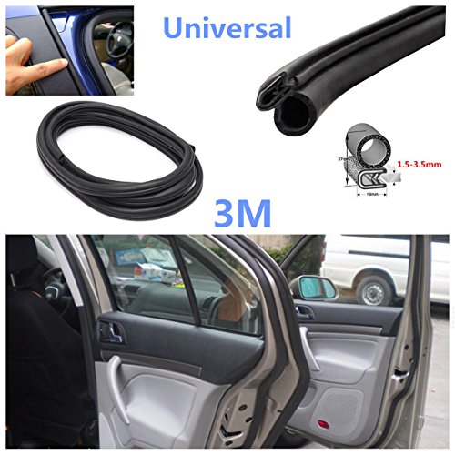 3M - Bande universelle d'étanchéité en caoutchouc noir pour porte de voiture, coffre, becquet - Décoration et protection