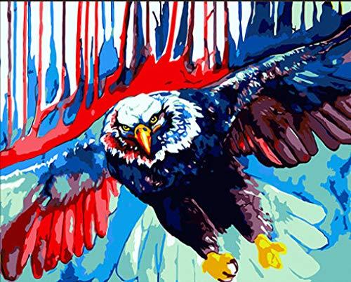dxefdmoin Pintura Digital Bricolaje Pintado a Mano para Colorear Acuarela Pintura alas águila