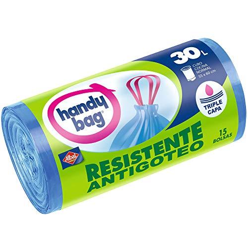Handy Bag–Gefrierbeutel Mülleimer 30l mit Robust–antibakteriell–15Stück