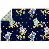 Bennigiry weicher, niedlicher Eulen-Teppich, buntes Stern-Muster, rutschfester Teppich, für Wohnzimmer, Schlafzimmer, Spielzimmer, 180 x 119 cm, Polyester, multi, 200x150cm/79x59in