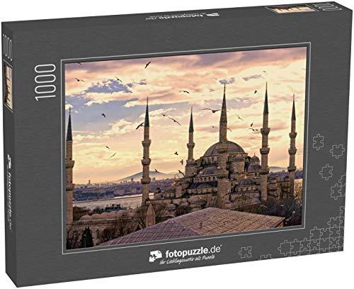 fotopuzzle.de Puzzle 1000 Teile Sonnenuntergang über der Blauen Moschee, (Sultanahmet Camii), Istanbul, Türkei (1000, 200 oder 2000 Teile)