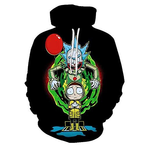 YDYFC Anime Rick Morty Sweatshirt Kapuzenpullover Pullover Jersey Jacke
