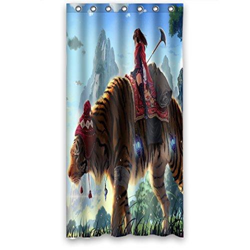 Doubee Custom Animals Tiger Wasserdicht Polyester Duschvorhang Shower Curtain 36