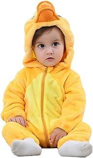 LvRao Unisex Baby Hooded Winter Romper Warm Soft Animal Flannel Pyjamas 0-24 Months