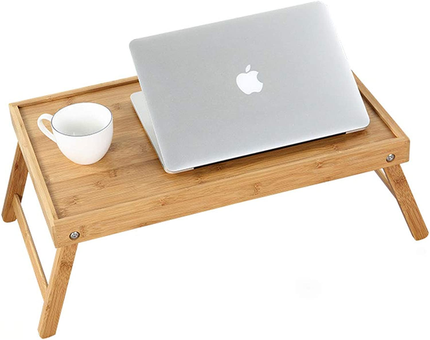 NJ Folding Table- Household Simple Bamboo Folding Computer Desk, Home Dining Table Computer Desk (color   Original Bamboo, Size   52.5x32.7x21cm)