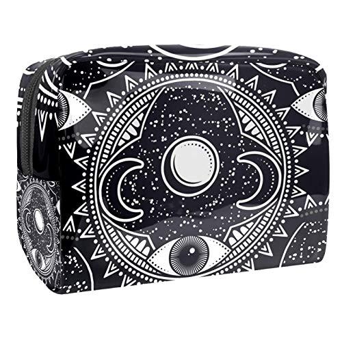 Kit de viaje abstracto tribal étnico 18,5 x 7,5 x 13 cm para hombres y mujeres bolsa de maquillaje/bolsa de cosméticos de viaje bolsas de cosméticos