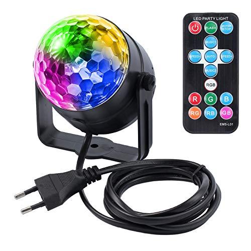 Justech Disco Luces Discoteca Bola DJ Brillo Bolas Fiesta Etapa Luz Mini Espejo Bombillas LED para Fiesta de Cumpleaños en Casa KTV Bar Karaoke Escenario Celebración de la Boda con Control Remoto