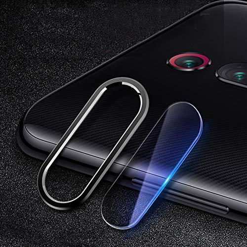 YGMO SMSE Ayd Scratchproof Teléfono móvil Metal Cámara Trasera Anillo de Lente + Lente de la cámara Trasera Conjunto de película Protectora para Redmi K20 Pro (Color : Black)