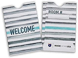 "Guardian Hotel Key Card Envelope/Holder, 2-3/8"" x 3-1/2"", 500/Box (Stripes)"