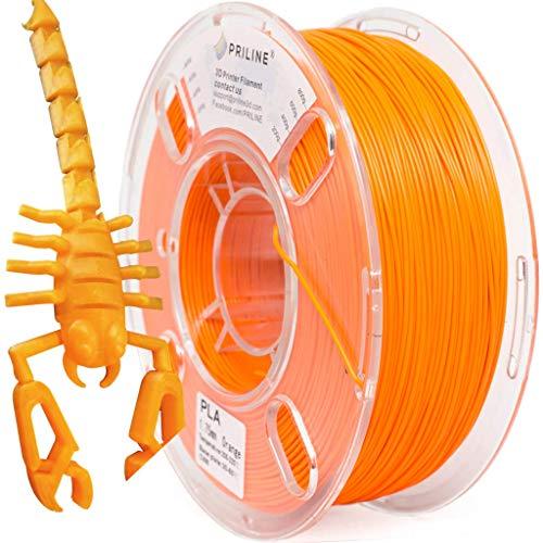 PRILINE PLA - Filamento per stampante 3D, 1 kg, 1,75 mm, resistenza +/-0,03 mm, colore: Arancione
