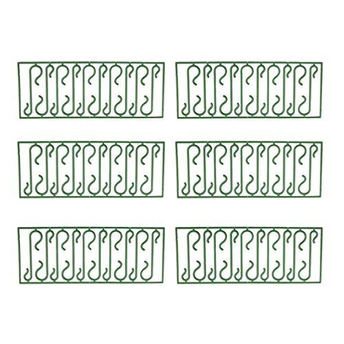 LUOEM 200 Stücke Weihnachtsschmuck Haken Kunststoff S Haken Kugelaufhänger Haken Baumhaken Kleiderbügel Haken Weihnachtskugel Haken für Weihnachtsbaumschmuck Weihnachtsdeko Grün